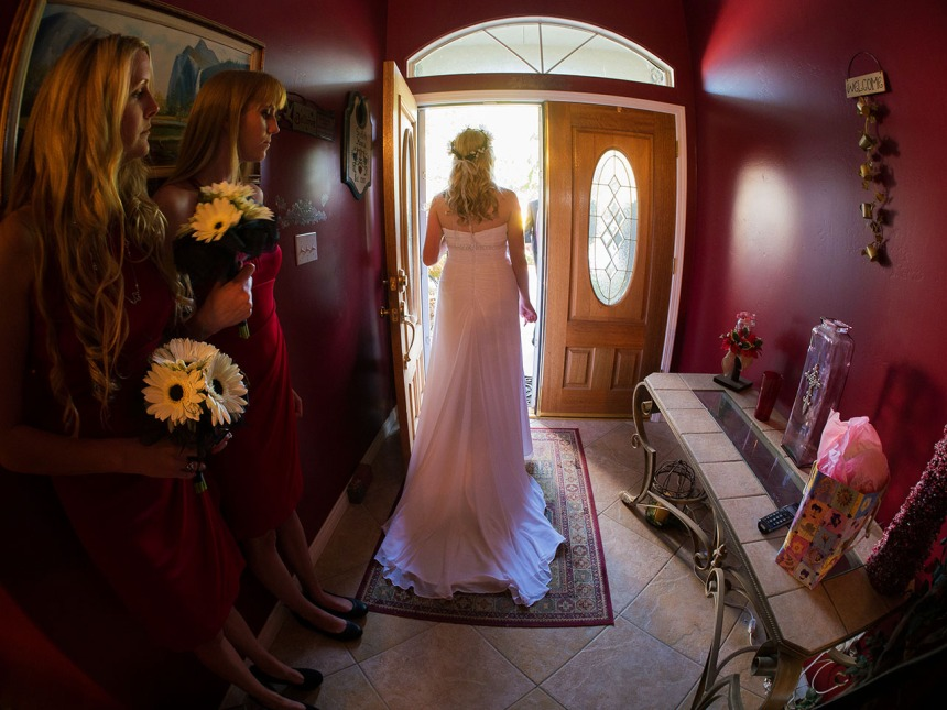 Almost time: Sally Griffith on her wedding day. JHDPS offers complete photojournalism wedding coverage, based on my 30-plus years of newspaper experience.
